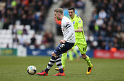 Preston North End Defender Tom Clarke (5) during the Sky Bet Championship match between Preston North End and Brighton and Hove Albion at Deepdale, Preston, England on 5 March 2016.