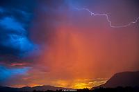 RED MTN SUNSET LIGHTNING- IVINS , UTAH IVINS- SNOW CANYON STATE PARK- RED MTN- RED CLIFFS DESERT RESERVE LIGHTNING