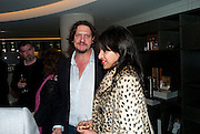 JAY RAYNER;  RAVINDER BHOGAL; , The French Laundry reception to celebrate the October opening of the 10-day pop-up ' French laundry restaurant in Harrods. The Penthouse, Harrods. London. 31 August 2011.<br /> <br />  , -DO NOT ARCHIVE-© Copyright Photograph by Dafydd Jones. 248 Clapham Rd. London SW9 0PZ. Tel 0207 820 0771. www.dafjones.com.