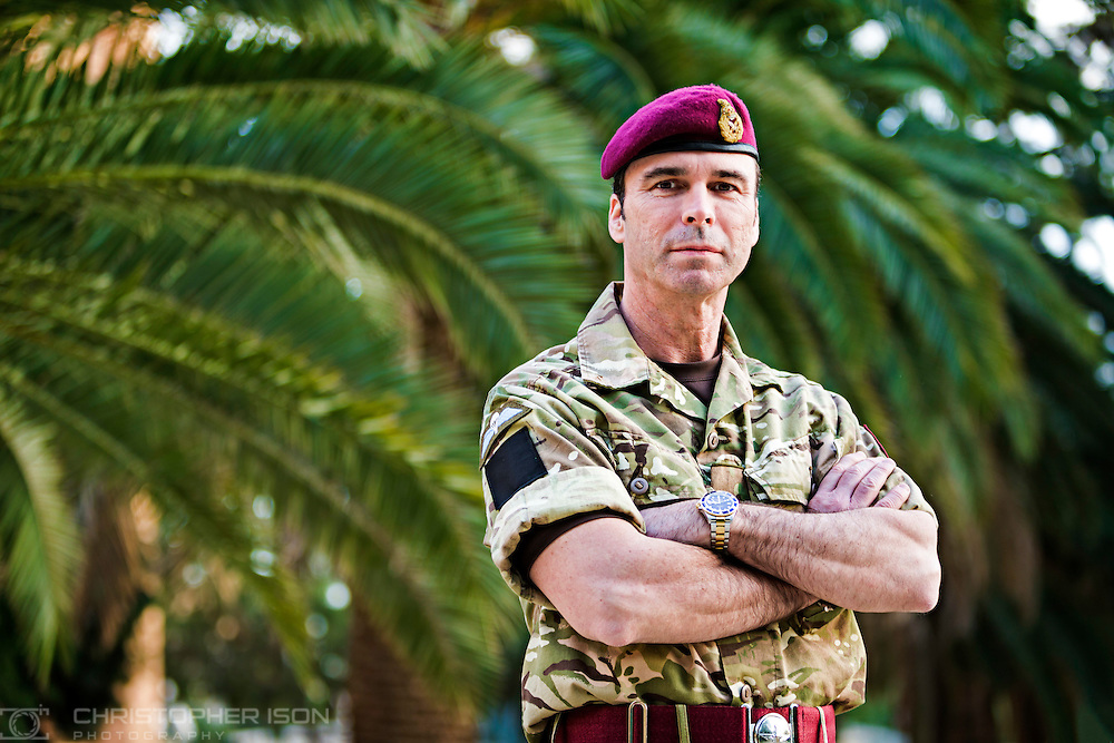 Major General Ranald Munro, Commanding Officer of the Territorial Army, pictured during his visit to British forces on tour of duty patrolling the United Nations Buffer Zone between Greek and Turkish controlled Cyprus.