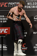 """GLASGOW, UNITED KINGDOM, JULY 15, 2017: Mixed martial arts welterweight division athlete Emil Meek is pictured on stage during a fan Q&A session ahead of """"UFC Fight Night Glasgow: Nelson vs. Ponzinibbio"""" inside the SSE Hydro Arena in Glasgow"""