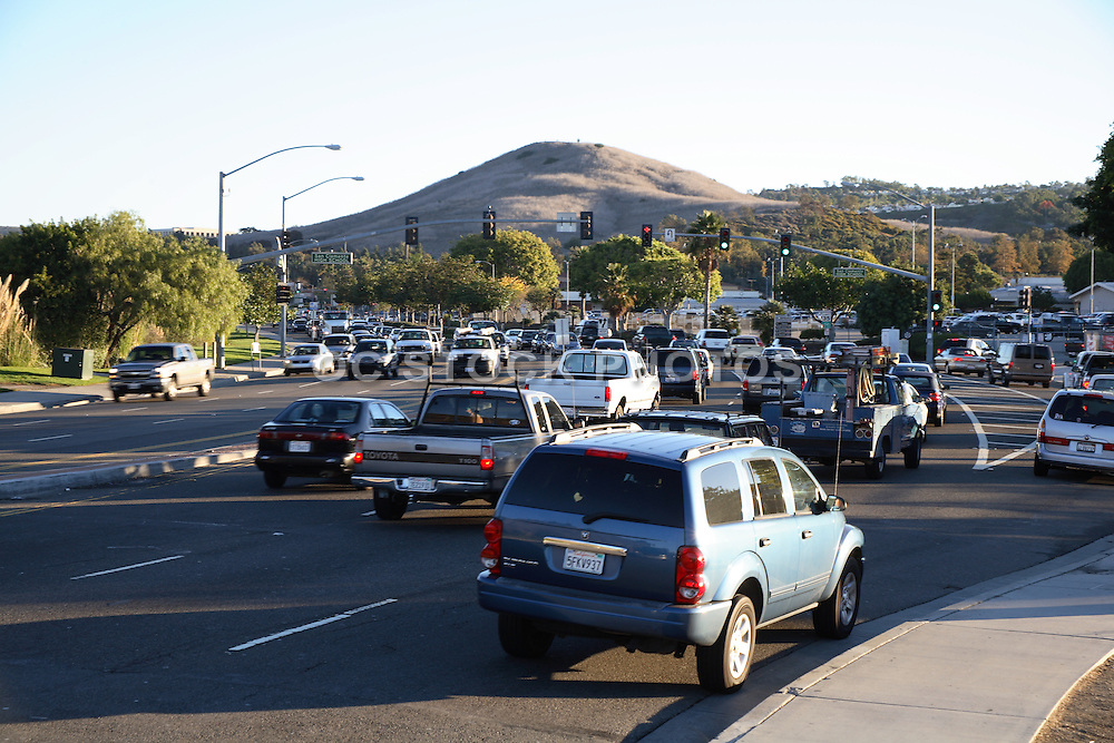 Morning Traffic on Pico Heading East