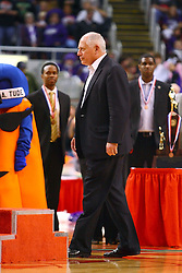 10 March 2012:  Governor Pat Quinn <br /> IHSA State2A Championship  game between the Normal University High Pioneers and the Breese Central Cougars at Carver Arena in the Peoria Civic Center,Peoria Il