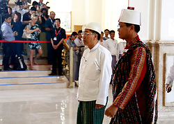 Military-assigned First Vice President U Myint Swe (L) and second vice president of the National League for Democracy (NLD) U Henry Van Thio (R) arrive to attend a session of Myanmar Union Parliament in Nay Pyi Taw, Myanmar, March 30, 2016. U Myint Swe and U Henry Van Thio took the oath of office in the presence of parliament Speaker U Mann Win Khaing Than. EXPA Pictures © 2016, PhotoCredit: EXPA/ Photoshot/ U Aung<br /> <br /> *****ATTENTION - for AUT, SLO, CRO, SRB, BIH, MAZ, SUI only*****