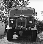 Yer van parked in the field, Glastonbury, Somerset, 1989