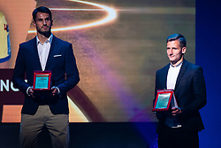 Klemen Sturm with reward for best back in Prva Liga Telekom Slovenije 2018/19 during SPINS XI Nogometna Gala 2019 event when presented best football players of Prva liga Telekom Slovenije in season 2018/19, on May 19, 2019 in Slovene National Theatre Opera and Ballet Ljubljana, Slovenia. Photo by Grega Valancic / Sportida.com
