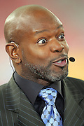 GLENDALE, AZ - JANUARY 8:  Emmitt Smith opens his eyes with a look of disbelief on the set of the FOX Sports television pregame show rehearsal at the Ohio State Buckeyes game against the Florida Gators at the 2007 Tostitos BCS National Championship Game at the University of Phoenix Stadium on January 8, 2007 in Glendale, Arizona. The Gators defeated the Buckeyes 41-14. ©Paul Anthony Spinelli *** Local Caption *** Emmitt Smith