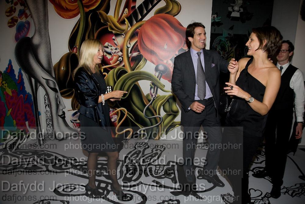 Prince Pavlos; Princess Marie -Chantal of Greece; SAFFRON ALDRIDGE, Exhibition opening ' Alan Aldridge- The Man With Kaleidoscope Eyes' hosted by his daughter Saffron Aldridge. Design Museum. Shad Thames. London  SE1. *** Local Caption *** -DO NOT ARCHIVE -Copyright Photograph by Dafydd Jones. 248 Clapham Rd. London SW9 0PZ. Tel 0207 820 0771. www.dafjones.com
