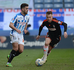 Fulham's Cauley Woodrow in action - Photo mandatory by-line: Richard Martin-Roberts/JMP - Mobile: 07966 386802 - 21/03/2015 - SPORT - Football - Huddersfield - John Smith's Stadium - Huddersfield Town v Fulham - Sky Bet Championship