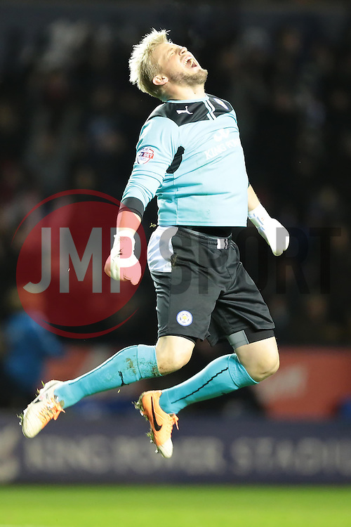 Leicester City's Kasper Schmeichel - Photo mandatory by-line: Nigel Pitts-Drake/JMP - Tel: Mobile: 07966 386802 29/12/2013 - SPORT - FOOTBALL - King Power Stadium - Leicester - Leicester City v Bolton Wanderers - Sky Bet Championship