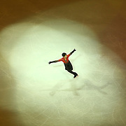 Paolo Borromeo is seen during the Smucker's Skating Spectacular at the TD Garden on January 12, 2014 in Boston, Massachusetts.
