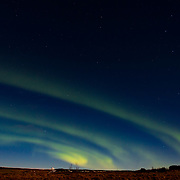 Aurora borealis near Geysir