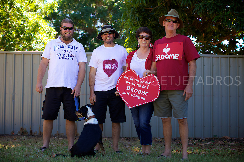 Millican family supporting the Broome family gathering, showing that Broome Families do not want a gas hub North of Broome.