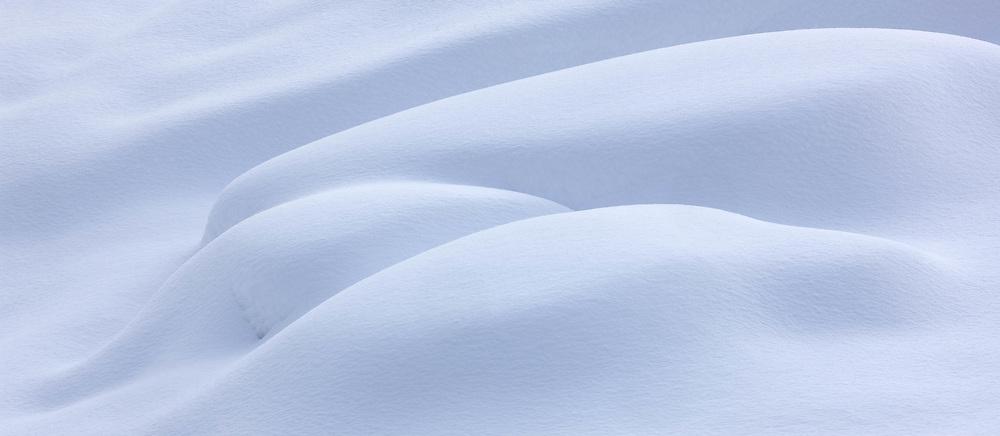 Snow forms, Turtleback Dome, Yosemite National Park , California