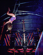 Aerialist performing at Studio 54.  New York, NY