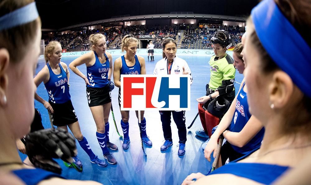 BERLIN - Indoor Hockey World Cup<br /> Women: Poland - USA<br /> foto: KENTWELL Jun.<br /> WORLDSPORTPICS COPYRIGHT FRANK UIJLENBROEK