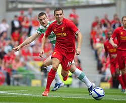 DUBLIN, REPUBLIC OF IRELAND - Saturday, August 10, 2013: Liverpool's Stewart Downing in action against Glasgow Celtic during a preseason friendly match at the Aviva Stadium. (Pic by David Rawcliffe/Propaganda)