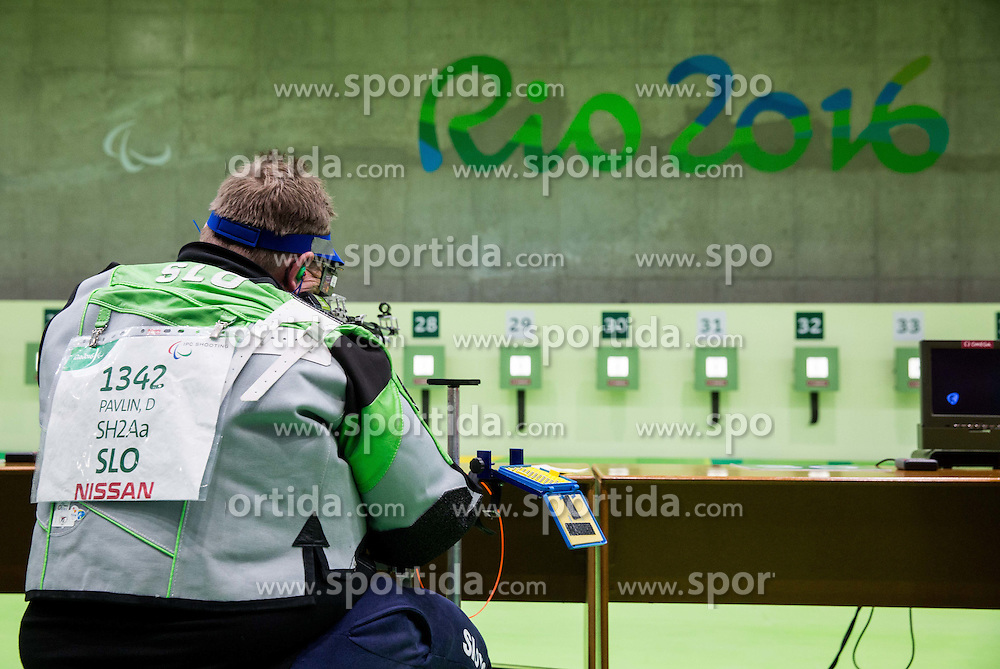 Damjan Pavlin of Slovenia during Qualification of R4 - Mixed 10m Air Rifle Standing SH2 on day 3 during the Rio 2016 Summer Paralympics Games on September 10, 2016 in Olympic Shooting Centre, Rio de Janeiro, Brazil. Photo by Vid Ponikvar / Sportida