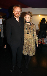 Actress EMILIA FOX and her husband JARED HARRIS at the 9th Annual British Independent Film Awards at the Hammersmith Palais, London on 29th November 2006.<br />