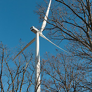Three giant wind turbines are being erected in Gloucester, MA. Reaching 492 freet from the tower base to the top of the rotor, the  turbines will be among the highest in the Norhteast. Two of the turbines will power public buildings in the city of Gloucester, which is expected to save at least $11 million in electricity bills over the next 25 years.