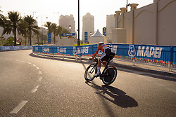 Ellen van Dijk (NED) at the 28.9 km Elite Women's Individual Time Trial, UCI Road World Championships 2016 on 11th October 2016 in Doha, Qatar. (Photo by Sean Robinson/Velofocus).