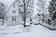 Luxury home at Jonas Lies Gate in the elegant residential area of Tromso within the Arctic Circle in Northern Norway