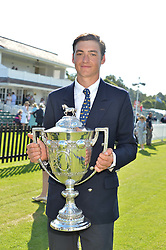 TOMMY BERESFORD young polo player of the year at The Royal Salute Coronation Cup Polo held at Guards Polo Club,  Smiths Lawn, Windsor Great Park, Egham on 23rd July 2016.