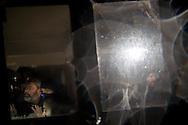 © Benjamin Girette / IP3 PRESS : le 23 Novembre 2012 - Operation d'evacuation par les forces de police de la ferme du Rosier a l'aube - Dans la ZAD (Zone a Defendre) - Territoire prévu pour le projet d'aeroport - a proximité de Notre Dame des Landes.