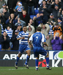 Reading, England - Saturday, January 20, 2007: Reading's Ulises De la Cruz celebrates the second Reading goal against Sheffield United  during the Premier League match at the Madejski Stadium. (Pic by Chris Ratcliffe/Propaganda)