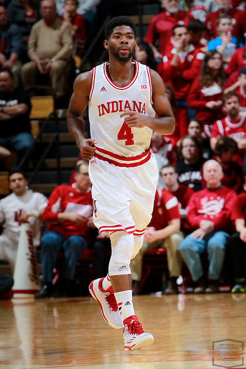Indiana guard Robert Johnson (4) as Eastern Washington played Indiana in an NCAA college basketball game in Bloomington, Ind., Monday, Nov. 24, 2014. (AJ Mast)