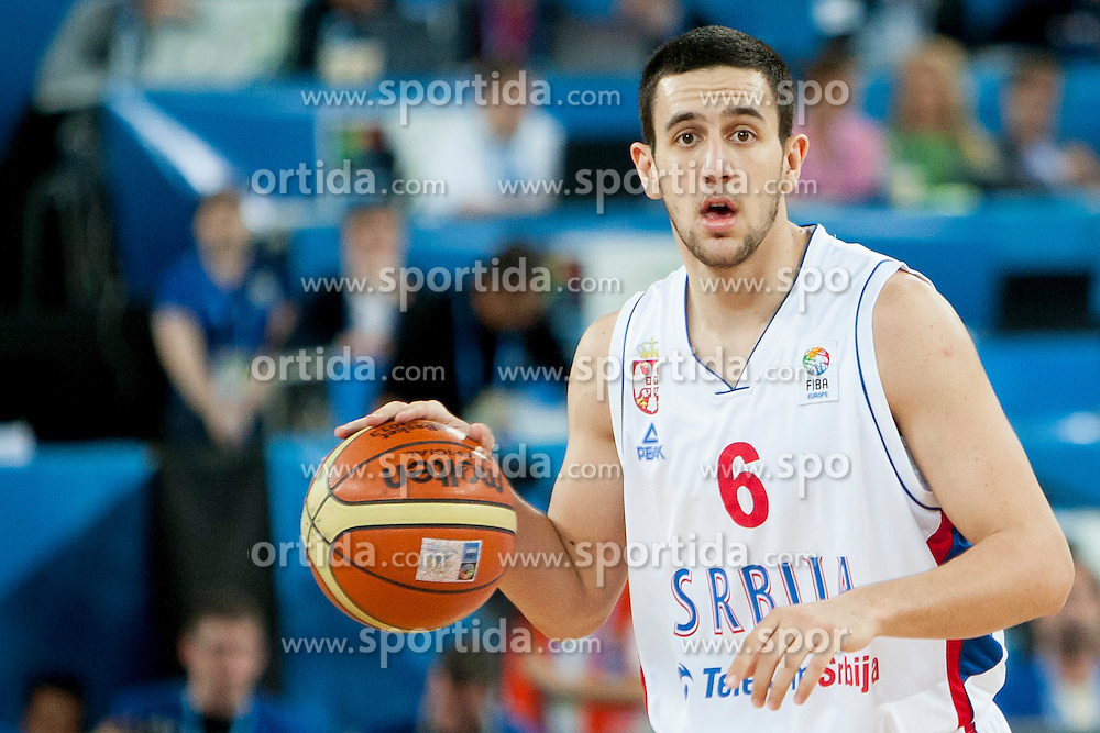Vasilje Micic #6 of Serbia during basketball match between National teams of Serbia and Spain in Quarterfinal at Day 15 of Eurobasket 2013 on September 18, 2013 in SRC Stozice, Ljubljana, Slovenia. (Photo By Urban Urbanc / Sportida)
