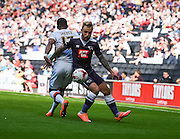 Derby County forward Johnny Russell during the Sky Bet Championship match between Milton Keynes Dons and Derby County at stadium:mk, Milton Keynes, England on 26 September 2015. Photo by David Charbit.