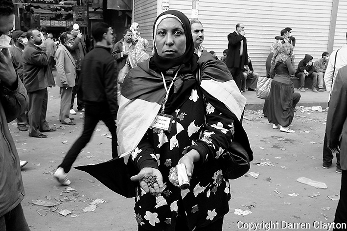 Cairo riots in Egypt 2011.