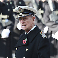 Prince Philip Remembrance Sunday - Cenotaph Service, Whitehall, London, UK. 13 November 2011. Contact rich@pictured.com +44 07941 079620 (Picture by Richard Goldschmidt)