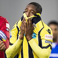 ARNHEM, Vitesse - Willem II 0-2, voetbal, Eredivisie, seizoen 2016-2017, 11-02-2017, Stadion De Gelredome, teleurstelling bij Vitesse speler Kelvin Leerdam.