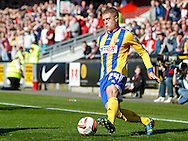 Jake Bidwell of Brentford during the Sky Bet League 1 match at the Matchroom Stadium, London<br /> Picture by Mark D Fuller/Focus Images Ltd +44 7774 216216<br /> 15/03/2014