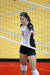 13 September 2011: Tabitha Visk during an NCAA volleyball match between the Ramblers of Loyola and the Illinois State Redbirds at Redbird Arena in Normal Illinois.