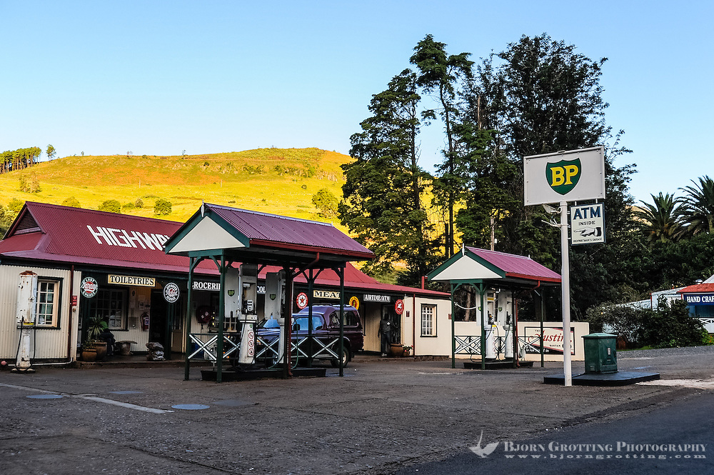 Gas Station. Pilgrim's Rest, an old Gold mining town in South Africa declared a national monument.