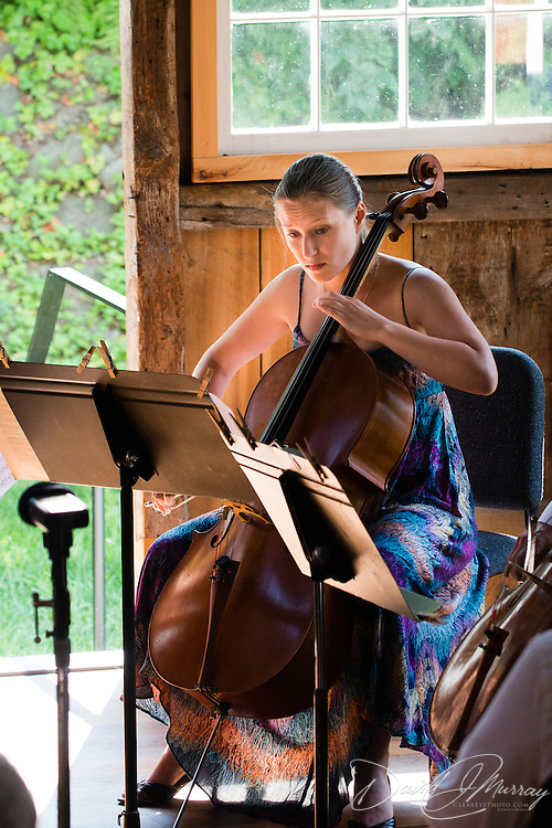 Katie Kennedy of The Arensky Ensemble performing in the barn at Moffatt-Ladd House in Portsmouth, NH. July 2012