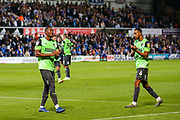 AFC Wimbledon players thank the fans during the EFL Sky Bet League 1 match between Ipswich Town and AFC Wimbledon at Portman Road, Ipswich, England on 20 August 2019.