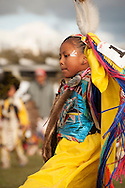 Powwow, kids, Rocky Boy Powwow, Fancy Shawl Dancer, Rocky Boy Indian Reservation, Montana.