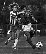 A Puerto Rican player punches a player from Mexico during a junior soccer tournament in Ottawa, Ont. (1974)