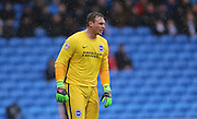 Brighton goalkeeper, David Stockdale (13) during the Sky Bet Championship match between Cardiff City and Brighton and Hove Albion at the Cardiff City Stadium, Cardiff, Wales on 20 February 2016.