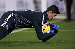 January 3, 2019 - Villarreal, Castellon, Spain - Thibaut Courtois of Real Madrid during the warm-up before the week 17 of La Liga match between Villarreal CF and Real Madrid at Ceramica Stadium in Villarreal, Spain on January 3 2019. (Credit Image: © Jose Breton/NurPhoto via ZUMA Press)