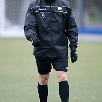 St Johnstone Training....20.01.12<br /> New loan signing Lee Croft enjoying training this morning before tomorrows game against Hibs<br /> Picture by Graeme Hart.<br /> Copyright Perthshire Picture Agency<br /> Tel: 01738 623350  Mobile: 07990 594431