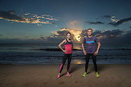 Rebecca Hoschke (AUS) and Matty White (AUS), June 6, 2014 - TRIATHLON : SCODY ATHLETES / Cairns Airport Adventure Festival, Clifton Beach, Cairns, Queensland, Australia. Credit: Lucas Wroe