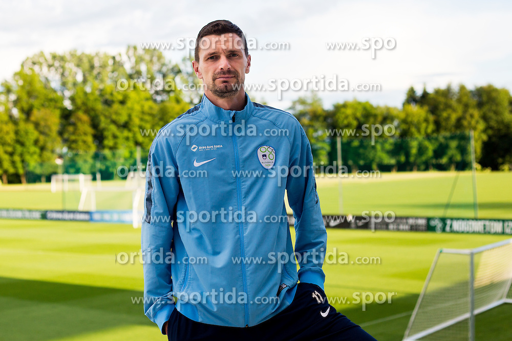 Milivoje Novakovic after the practice session of Slovenian Football Team before friendly match against Turkey, on June 2, 2016 in Football centre Brdo pri Kranju, Slovenia. Photo by Ziga Zupan / Sportida