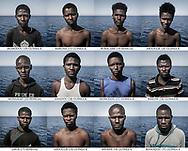 El 1 de agosto de 2016, 118 personas fueron rescatadas de un barco de goma a la deriva en el Mar Mediterráneo, a 20 millas náuticas de las costas de Libia. Una más de las cientos de barcas que han sido rescatadas en los últimos años en esta ruta migratoria. Sólo en 2016, año en que se batieron máximos históricos,181.436 migrantes fueron rescatados a salvo, mientras 4.576 perdieron su vida en el mar. Pero, ¿quién hay detrás de los números? ¿Cuál es la identidad de las víctimas y los supervivientes de este viaje? En un intento de poner nombre y rostro a esta realidad, de humanizar esta tragedia, realizo este trabajo de documentación compuesto por 118 retratos de todas las personas que viajaban a bordo de la misma barca, tomadas minutos después de su rescate, una vez a bordo del barco de salvamento Iuventa. Sus rostros, sus miradas, las marcas en su cuerpo, su ropa o la ausencia de ella... reflejan el estado anímico y físico en el que se encuentran en un momento que ya ha marcado sus vidas para siempre, y cuyo registro puede servir para acercar esta realidad migratoria a aquellos que la observan desde la distancia. Estos son los protagonistas de aquel viaje, de aquel rescate más que tuvo lugar en el Mar Mediterráneo el 1 de agosto de 2016.