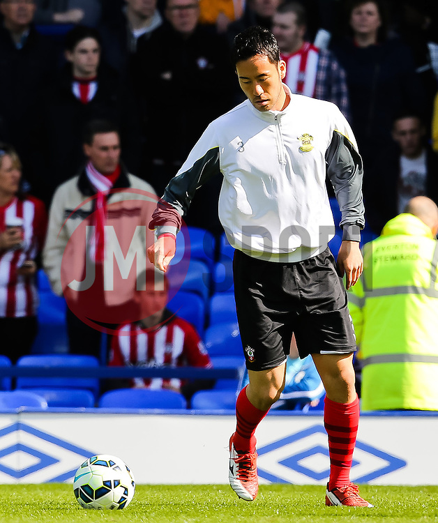 Southampton's Maya Yoshida warms up - Photo mandatory by-line: Matt McNulty/JMP - Mobile: 07966 386802 - 04/04/2015 - SPORT - Football - Liverpool - Goodison Park - Everton v Southampton - Barclays Premier League