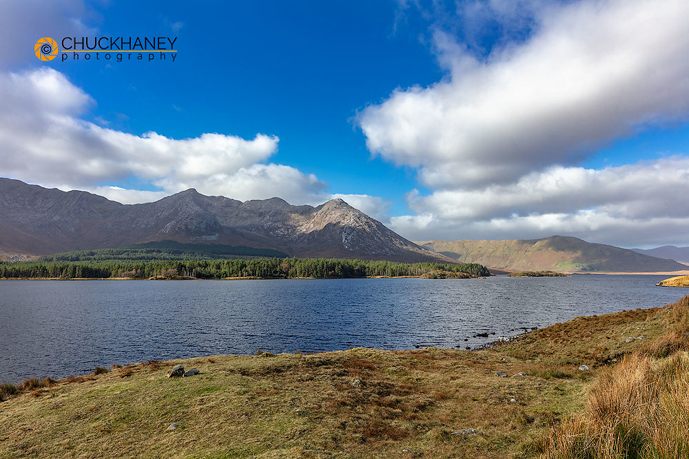 Lough Inagh with the Maamturks Mountains near Clifden, Ireland